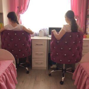 Кресло для клиента маникюра Капля на хром