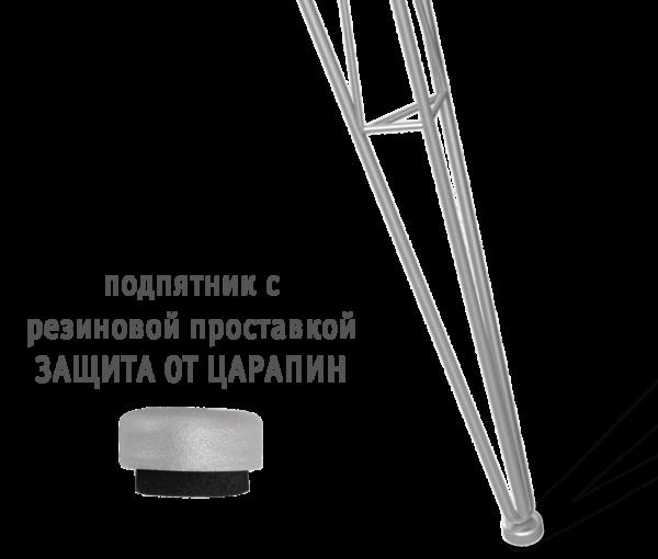 Подстолье металлическое SH-10 хром лак