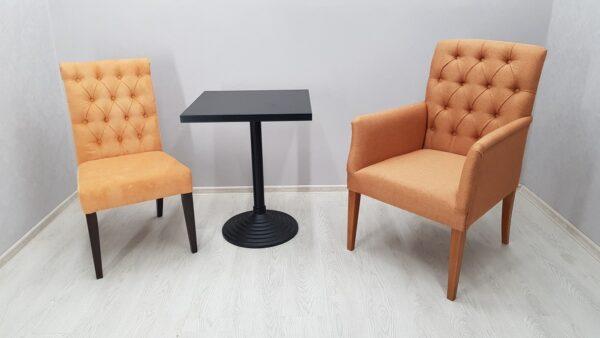 Кресло в утяжке для кафе