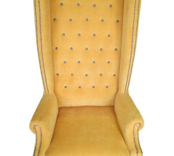 высокое желтое кресло для салона
