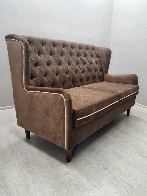 диван для кафе в утяжке