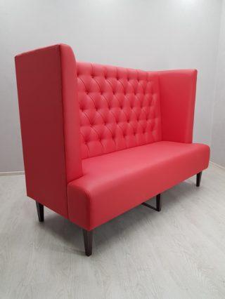 диван для ресторана с высокой спинкой