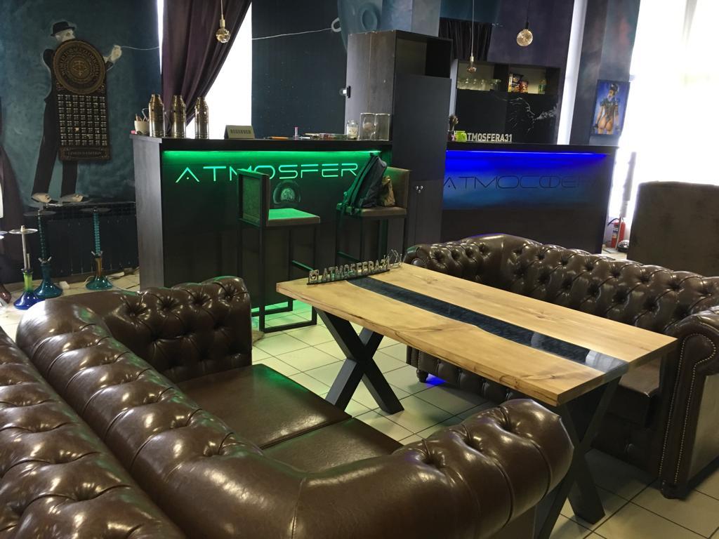 Наша мебель в Lounge bar ATMOSFERA г. Белгород