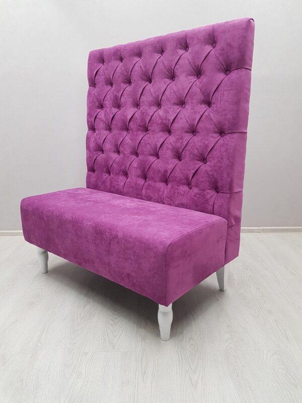 диван с высокой спинкой для ресторана и кафе