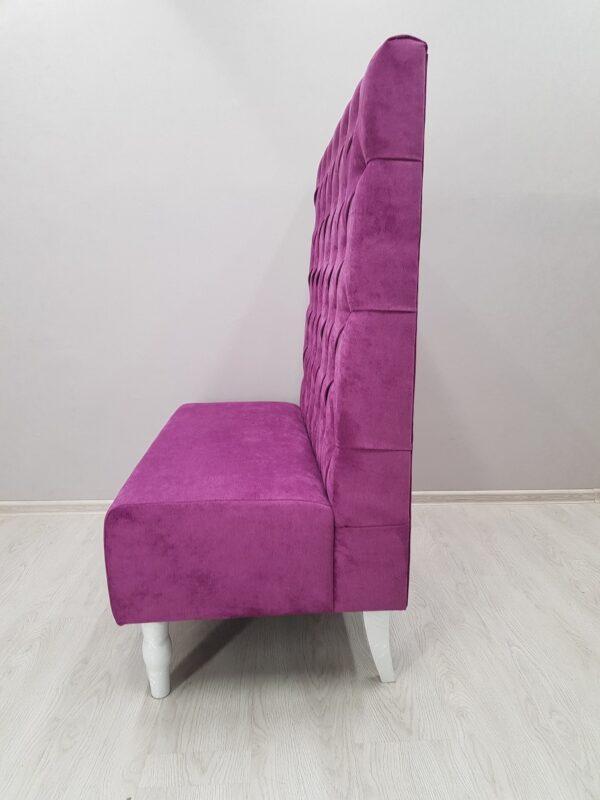 диван для кафе с высокой спинкой