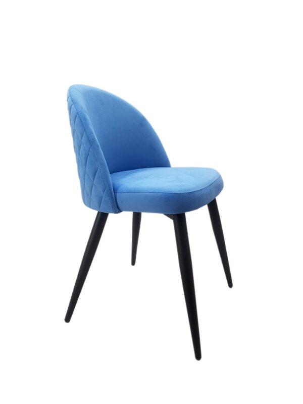 голубой мягкий стул