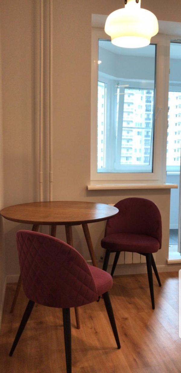 мягкий стул фиолетовый