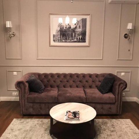 диван честерфилд в интерьере