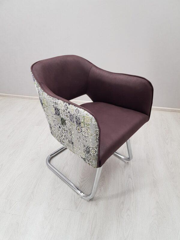 кресло на хром базе