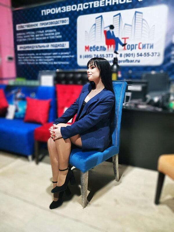 стул для кафе синий
