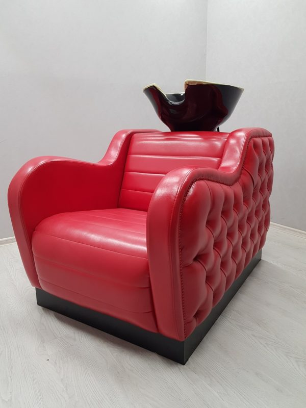 кресло с мойкой красная