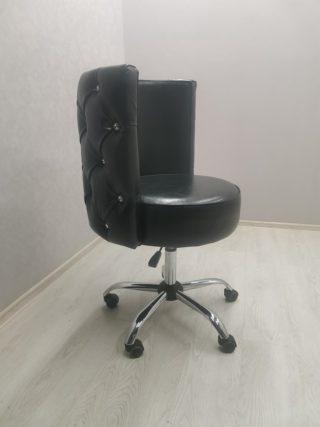 Кресло Капля черное со стразами