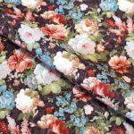 ткань для мебели с цветами